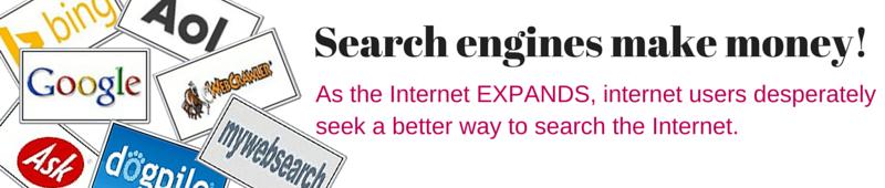 a niche Search engine makes money 4 Image