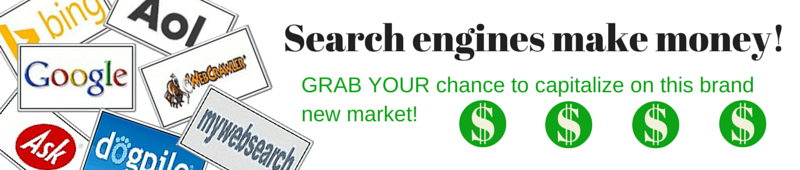 a niche Search engine makes money 5 Image